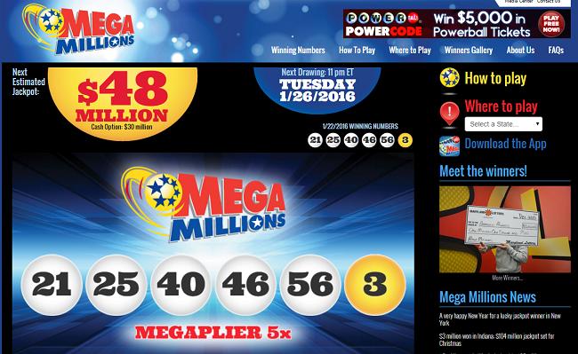 Mega Millions Lottery American Lottery
